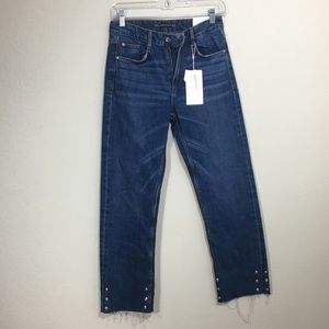 ZARA TRF Straight Leg High Waisted Jeans 2